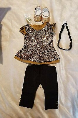American Girl Golden Sparkle Outfit TRULY ME NEW IN BOX