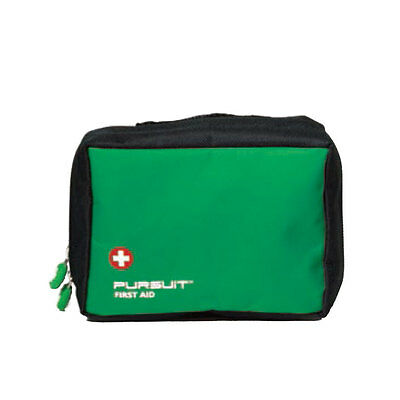 Empty Large First Aid Bag - Green - Belt Loops & Mesh Pockets - Outdoors Sports
