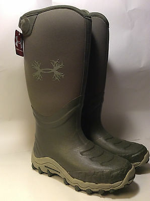 NWT UNDER ARMOUR HAW Rubber Neoprene Waterproof Rain Hunting Boots Tall 7