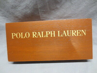 Polo Ralph Lauren Merchandise Advertising Store Display Sign Solid Wood Block