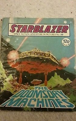 starblazer comic number 20 the doomsday machines early numbers  rare