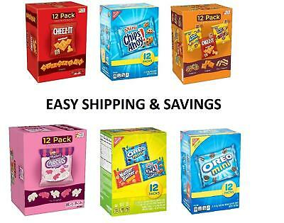 NABISCO  Kellogs 12 Pack Cookies Variety Snack Packs Pick One Free Shipping