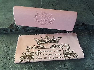 Baby Pink Juicy Couture Heart Leather Sunglasses Reading Glasses Hard Case cloth
