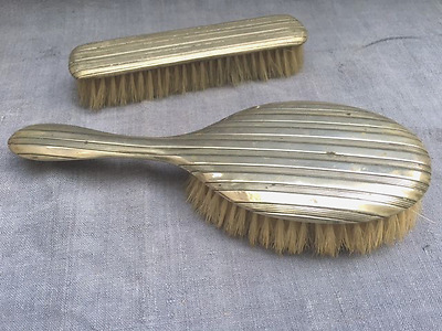 1920's Antique Silver Brushes