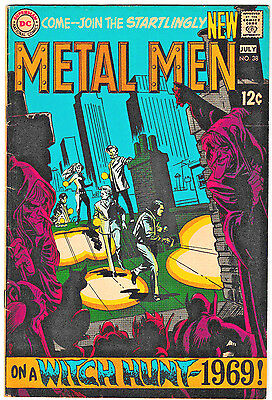 Metal Men #38 VG/FN 1969 DC Comics 1st series Silver Age Witch Hunt Robots