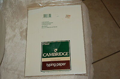 Typing Paper printer letter stationery 8.5 X 11 43 +sheets 20# laid bond 1986
