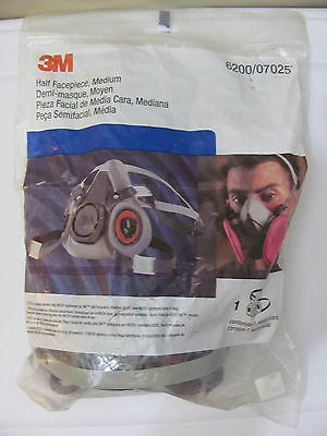 New 3M HALF FACEPIECE MASK Medium REUSABLE RESPIRATOR 6200/07025 FREE SHIPPING