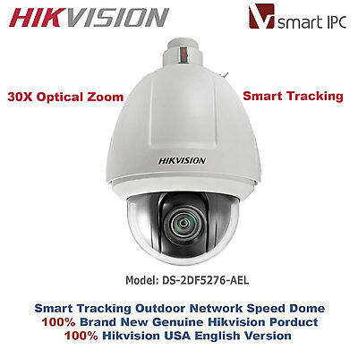 30X Hikvision USA Outdoor Smart Auto Tracking IP PTZ Speed Dome/1.3MP HD720P/PoE