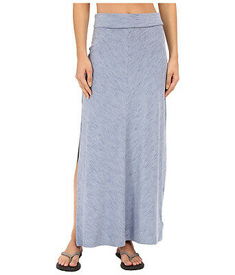 NWT Columbia Blurred Line Maxi Skirt Bluebell Blue Large L