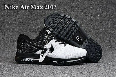 NEW Nike Air Max 2017 Men Trainers Running Shoes Sneakers Black And White