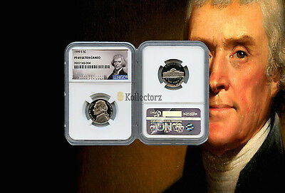 1999 S Jefferson Nickel .5 Ngc Pf69 Ultra Cameo Portrait Label