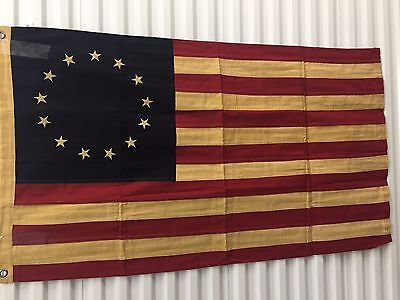American Betsy Ross tea dyed flag