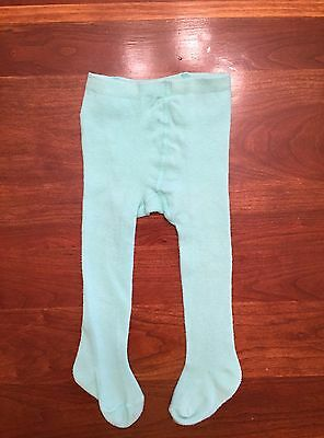 June & January Baby Girls 6-12 Months Soft Mint The Knit Tights $14