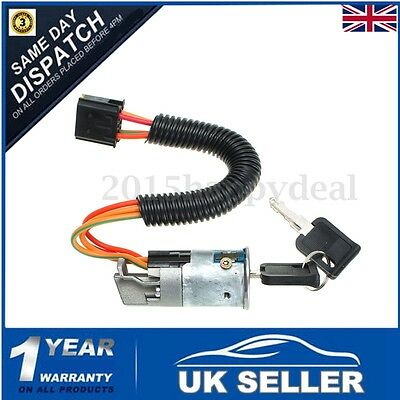 Ignition Switch Lock Barrel + 2 Keys For 98-05 RENAULT CLIO MK2 MEGANE SCENIC UK
