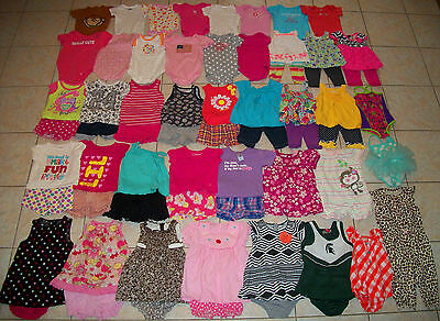 Baby Girls Clothes/Outfits/Dresses Lot of 63 Size 12/12-18 Months Summer