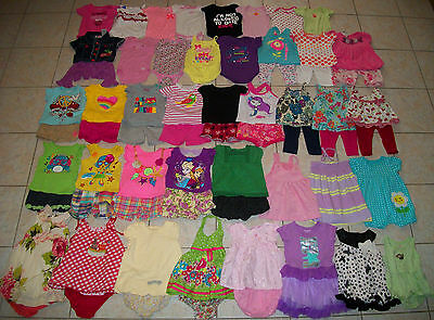 Baby Girls Clothes/Outfits/Dresses Lot of 64 Size 12/12-18 Months Summer