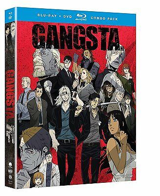 Gangsta : The Complete Series ( Blu-ray + DVD, 2017, 4-Disc Set w/ slipcover )
