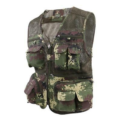 Outdoor Multi-Pocket Vest Travelers Fly Fishing Photography Quick-Dry Jacket