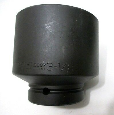 """Wright Tool 8897 3-1/8"""" Impact Socket 1"""" Drive 6-Point 3-1/8 in. Made in USA"""