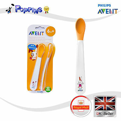 Philips Avent SCF710/00 Toddler weaning spoons 6m+/ Feeding spoon with soft Lace