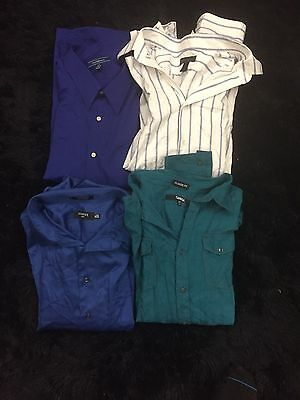 Lot Of 4, Men's Button Front, Long Sleeve Shirts, Sizes XXL