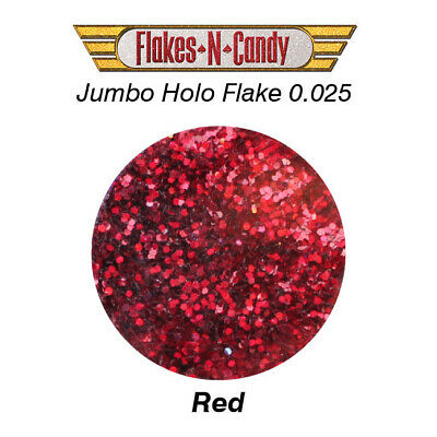 METAL FLAKES GLITTER JUMBO MONSTER (0.025) METAL FLAKE 30g Holographic Red