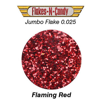 METAL FLAKES GLITTER JUMBO MONSTER (0.025) METAL FLAKE 30g FLAMING RED