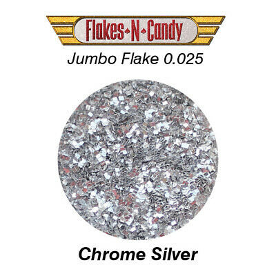 METAL FLAKE GLITTER JUMBO MONSTER 0.025 FLAKE 30g CHROME SILVER