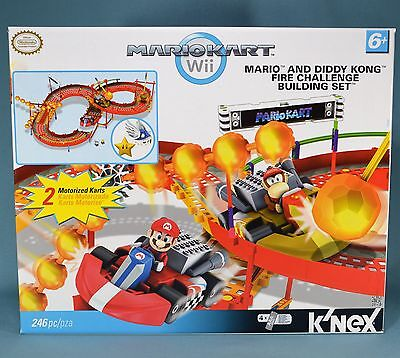 KNEX Mario Kart Wii Mario and Diddy Kong Fire Challenge 38352 Building Set