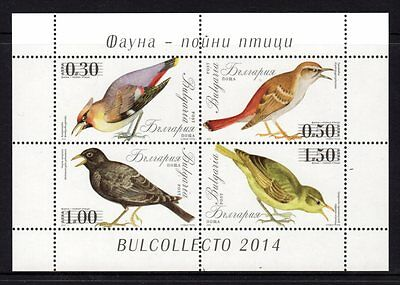 Bulgaria 2014 Birds Sheetlet 4 MNH