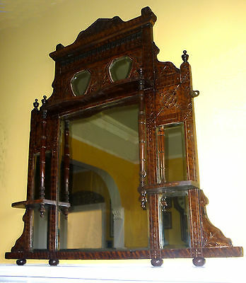 ANTIQUE Edwardian / late Victorian? OVERMANTLE MIRROR
