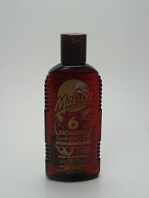 Malibu Fast Bronzing Tanning Oil SPF 6 With Tropical Coconut Fragrance 200ml