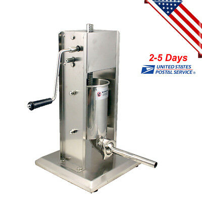 【US Stock】Sausage Stuffer Vertical Stainless Steel 5L/15LB 11 Pound Meat Filler