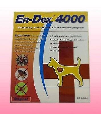 Pet tablet pill EN-DEX 4000 Remove Prevent Ticks and Fleas for Cats and Dogs