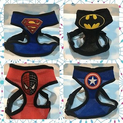 Marvel Superhero Dog and Cat Harness, Batman, Superman, Ironman, Comic