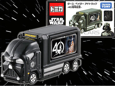 STAR WARS 40th Anniversary TOMICA Mini Car Toy Darth Vader Ad Truck JAPAN TOMY