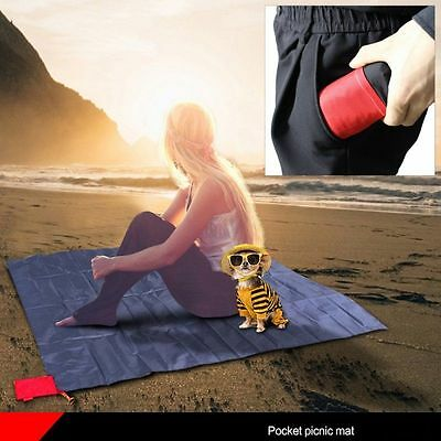Mini Pocket Size water resistant Picnic Blanket Camping 44x59 inches Lightweight