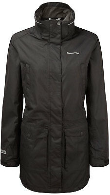 Craghoppers Womens OUTDOOR DOG WALKING WATERPROOF Madigan III Long Jacket Black