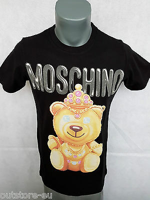 New T-Shirt Men's Moschino Brand Bear 2017 Model Cotton Color Black All Sizes