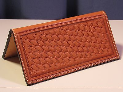 Hand tooled leather checkbook from Texas
