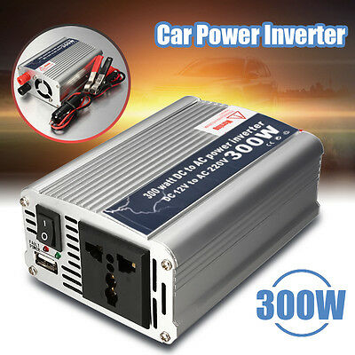 300W Car Truck Boat Auto USB DC 12V to AC 220V Power Inverter Converter Charger