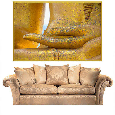 Egyptian Statue Of Pharaoh Gold Full Color Wall Decal Sticker AN-651 FRST