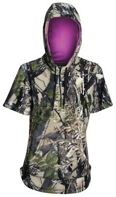 Ridgeline Huntress Short Sleeve Fleecy Hoodie Camo