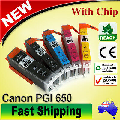 10x Ink Cartridges CLI 651 XL PGI 650 for Canon Pixma IP7260 MX926 MG5460 MX920