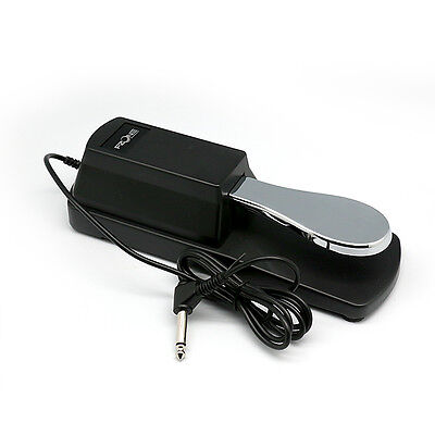 Universal Sustain Pedal with Piano Style Action for Electronic Keyboards