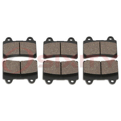 Front + Rear Organic Brake Pads 1999-2007 Yamaha XVZ1300TF Royal Star hy
