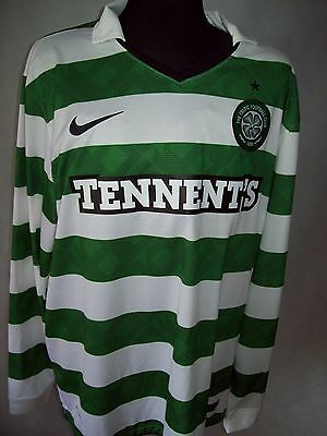Celtic Glasgow 2010 2012 XL L/S #9 Nike Home Shirt jersey TOP CONDITION