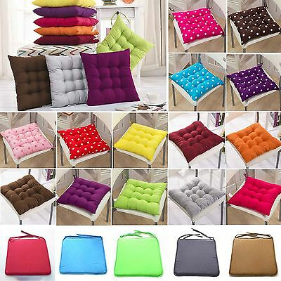 Removable Seat Pad Tie On Chair Cushion Cover Home Dining Office Garden Patio
