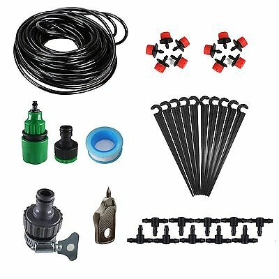 32ft 10M Blank Tubing Irrigation Drippers Stakes Quick Connector Punch Tool Kits
