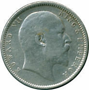 Ref. 987-1122 - COI INDIA . 1905. INDIA 1 RUPEES 1905 SILVER
